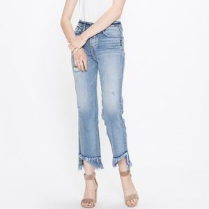 Silver Jeans Vintage Ankle Straight Frayed Indigo